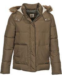 Lee Jeans Puffer Women's Jacket In Brown