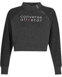 Converse Womens All Star Funnel Neck Sweatshirt - Black