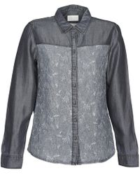 Esprit Denim Blouse Shirt - Grey