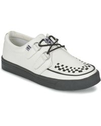 T.U.K. Creepers Trainers Women's Shoes (trainers) In White