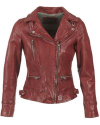 Oakwood Video Leather Jacket - Red