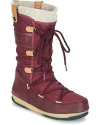 Moon Boot Monaco Flet Wp Snow Boots - Red