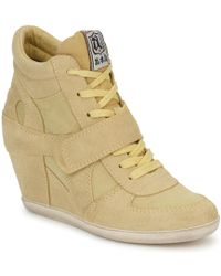 Ash Bowie Women's Shoes (high-top Trainers) In Yellow