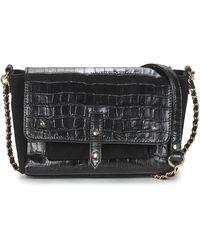 Petite Mendigote Andrew Croco Shoulder Bag - Black
