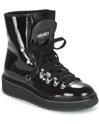 KENZO Patent Leather Boots - Black