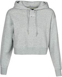 Converse Womens All Star Po Hoodie Sweatshirt - Grey