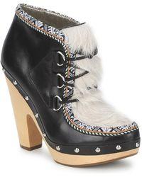 Belle By Sigerson Morrison Blacka Women's Low Boots In Multicolour