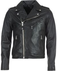 Schott Nyc Levoq Men's Leather Jacket In Black