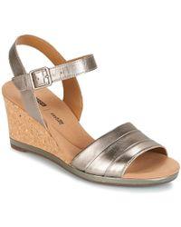 Clarks Lafley Aletha Women's Sandals In Silver - Metallic