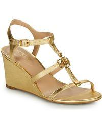 Lauren by Ralph Lauren Charlton Sandals Casual Wedge Sandals - Metallic