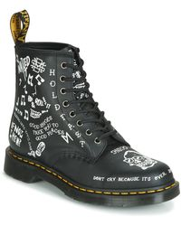 Dr. Martens - 1460 Scribble Backhand Mid Boots - Lyst