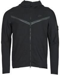 Nike Nstch Flc Hoodie Fz Wr Tracksuit Jacket - Black