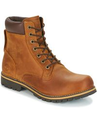 Timberland Ek RUGGED 6 In Plain Toe Boot Mid Boots - Brown