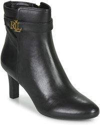 Lauren by Ralph Lauren Arianne Low Ankle Boots - Black
