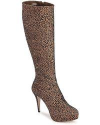 Sebastian Floc-leo Women's High Boots In Brown