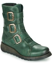 Fly London Scop Women's Low Ankle Boots In Multicolour - Green