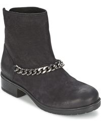 Redskins Lepica Women's Mid Boots In Black