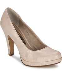 official images promo codes on feet images of Tamaris Carradi Women's Court Shoes In Pink - Lyst