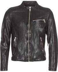 Redskins Cross Leather Jacket - Black
