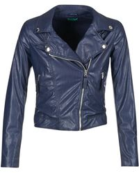 Benetton - Ferdoni Leather Jacket - Lyst