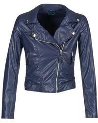 Benetton - Ferdoni Leather Jacket - Lyst