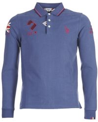 U.S. POLO ASSN. - Gb Polo No Men's Polo Shirt In Blue - Lyst