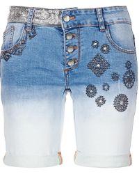 Desigual Vlademu Women's Shorts In Blue