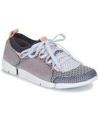 Clarks S Tri Amelia Casual Shoe, Grey Combi, 10 B(m) Us