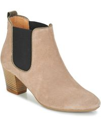 André Release Low Ankle Boots - Natural