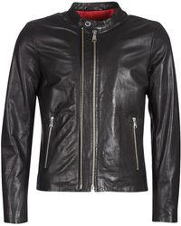 Redskins Kase Leather Jacket - Black