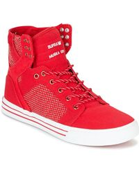 Supra - Skytop Women's Shoes (high-top Trainers) In Red - Lyst