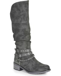 Mustang 1370501 High Boots - Grey
