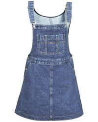 4be68627958 Tommy Hilfiger Recycled Denim Dungaree Dress in Blue - Save 11% - Lyst