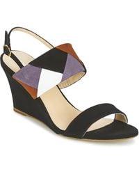 Mellow Yellow Vepale Sandals - Black
