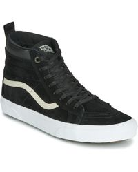 88c9882055 Vans Sk8 Hi Lite Men s Shoes (high-top Trainers) In White in White ...