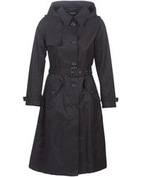 Lauren by Ralph Lauren Max Trench H Trench Coat - Black