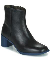 Camper Meda Low Ankle Boots - Black