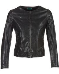 Benetton Janoura Leather Jacket - Black