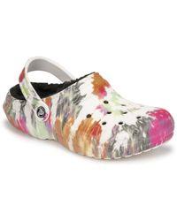 Crocs™ Classic Lined Tie Dye Clog Clogs (shoes) - White