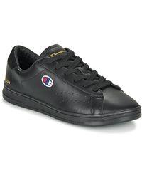 Champion Court Club Patch Shoes (trainers) - Black
