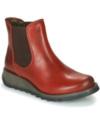 Fly London Salv Mid Boots - Red