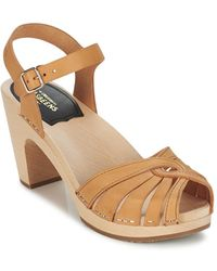 Swedish Hasbeens Frederica Sandals - Natural