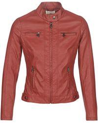 Moony Mood Leather Jacket - Red