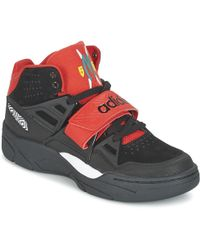 adidas mutombo tr bloccare le scarpe (high top formatori) in nero per gli uomini.