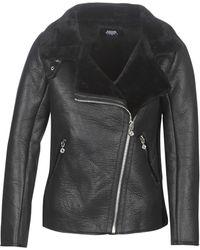 Le Temps Des Cerises Destiny Women's Leather Jacket In Black