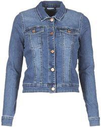 Noisy May Nmdebra Denim Jacket - Blue