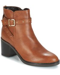 André Frenchy Low Ankle Boots - Brown