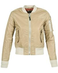 Schott Nyc Bomber By Jacket - Natural
