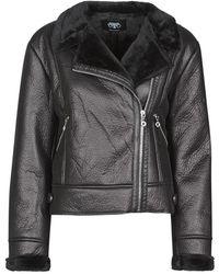 Le Temps Des Cerises Bony Leather Jacket - Black