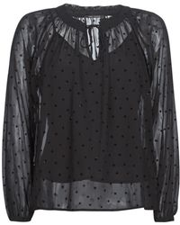 IKKS - Semud Women's Blouse In Black - Lyst